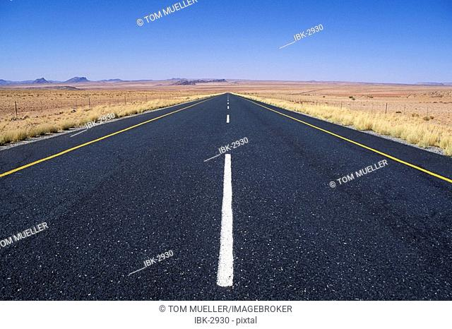 Straight Road in Namibia