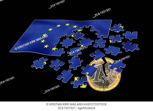 Broken euro splits the EU cooperation. Europe