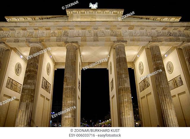 Brandenburger Tor in Berlin, Nightshot, Germany