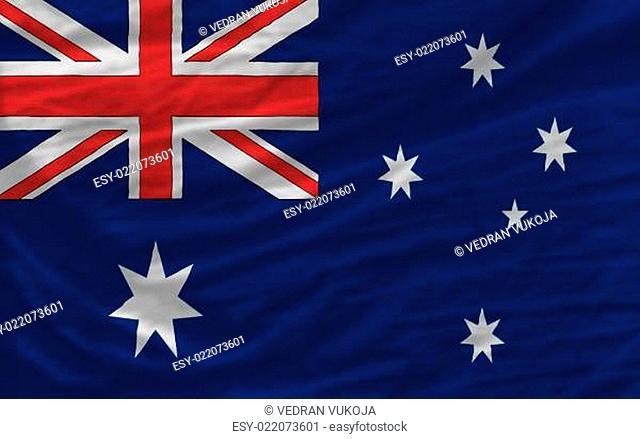 complete waved national flag of australia for background