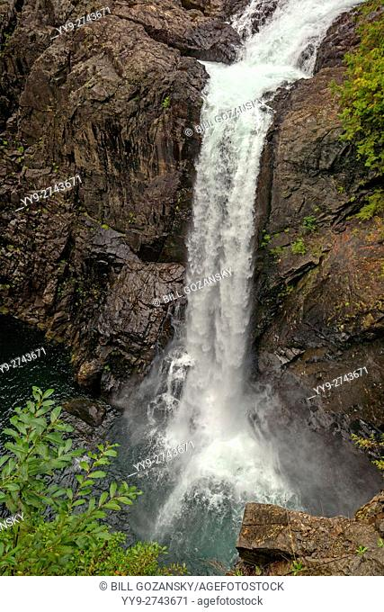 Elk Falls - Elk Falls Provincial Park and Protected Area - Campbell River, Vancouver Island, British Columbia, Canada