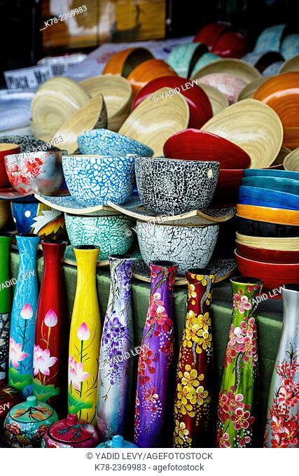 Souvenir shop, central Market, Hoi An, Vietnam