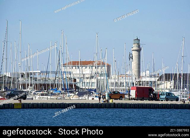 Port of Trieste with lighthouse - Italy
