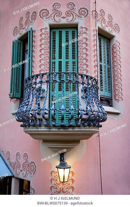 balcony at the house of Antonio Gaudi, Spain, Katalonia, Park Gueell, Barcelona