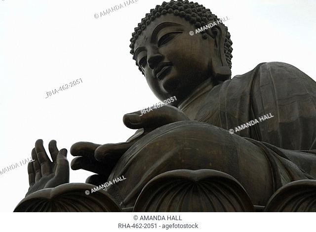 The Big Buddha statue, Po Lin Monastery, Lantau Island, Hong Kong, China, Asia