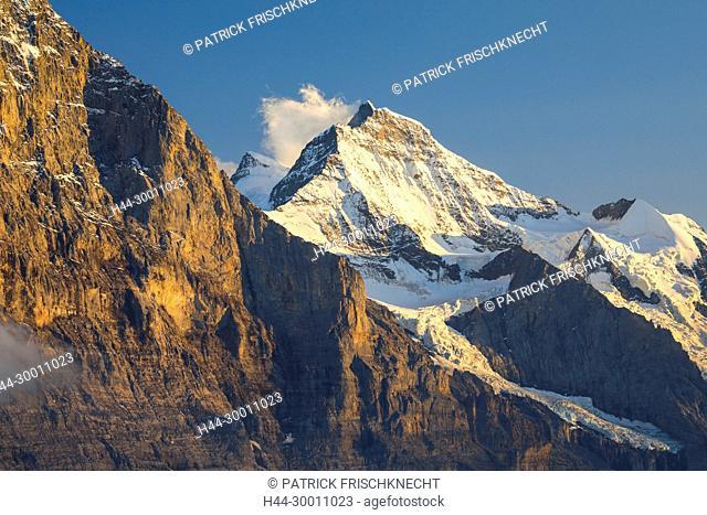 Eigernordwand und Jungfrau, Berner Oberland, Schweiz