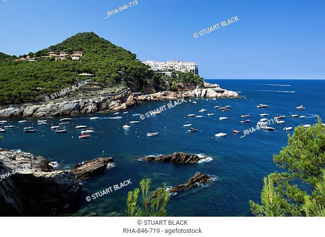 View over bay, Sa Tuna, near Begur, Costa Brava, Catalonia, Spain, Mediterranean, Europe