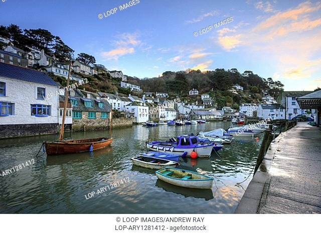 A view of Polperro Harbour in Cornwall