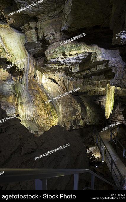 Dripstone cave, Erdmannshöhle, Hasler cave, Hasel, Schopfheim, Hochrhein, Black Forest, Baden-Württemberg, Germany, Europe