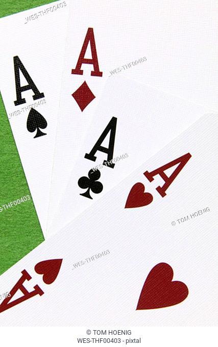 Four aces, close-up
