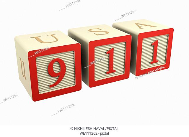 toy wooden block 911 emergency phone number