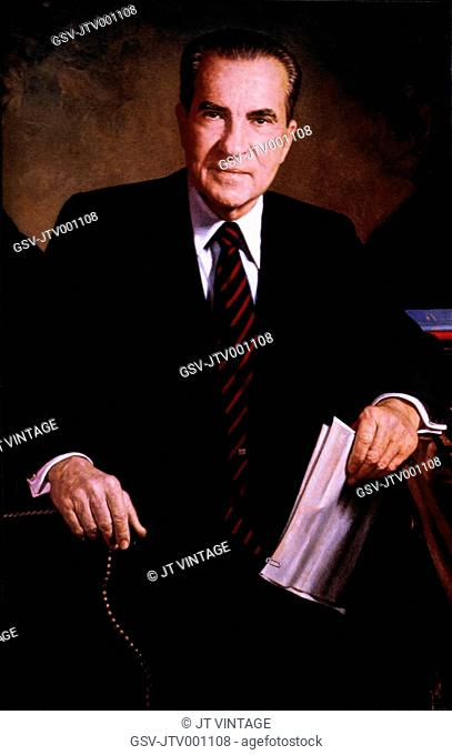 Richard M. Nixon 1913-1994, 37th President of the United States, Official Presidential Portrait