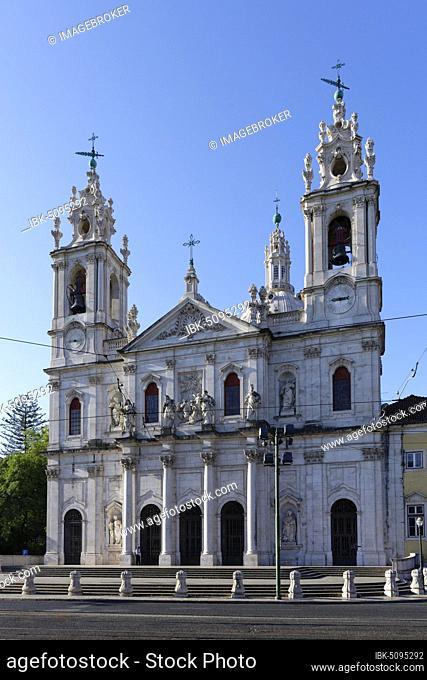 Praca da Estrela, Basilica da Estrela, Santos-o-Velho, Lisbon, Portugal, Europe