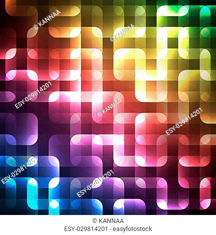 Abstract bright spectrum wallpaper. illustration for modern disco design. Cool pattern background. Rainbow and black colors