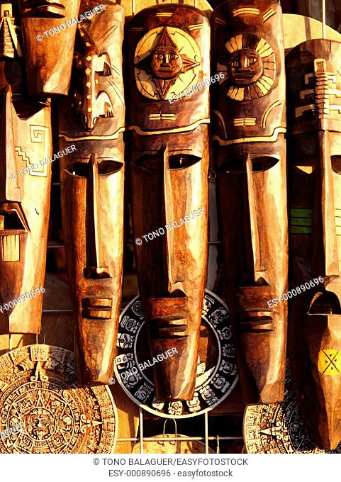 beautiful Mexican wooden mask handcrafted wood faces