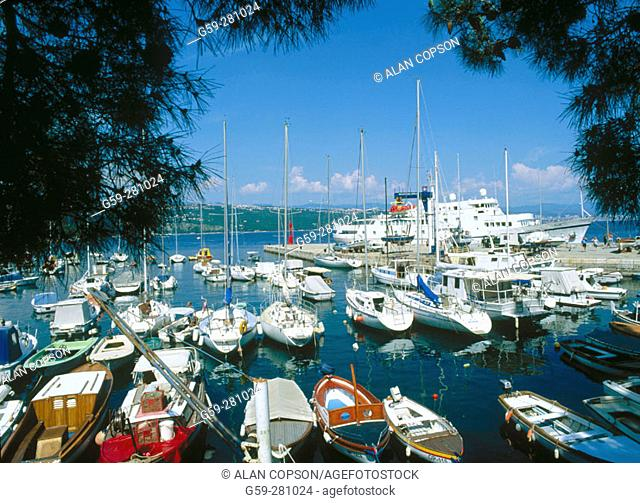 Yacht club and harbour. Opatija. Istria. Croatia