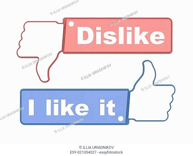 Like and Dislike Thumbs - Social Media Concept
