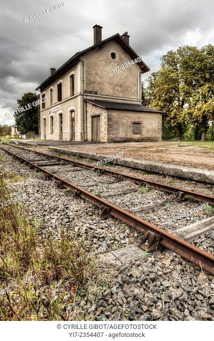 Abandoned train station, France