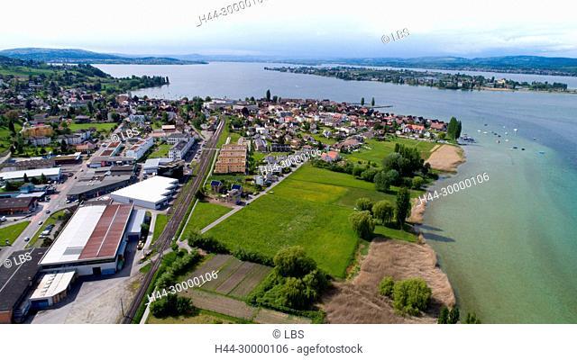Luftaufnahme der Gemeinde Ermatingen am Bodensee