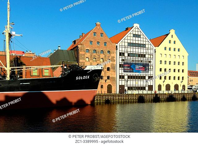 National Maritime Museum on the river Motlawa in Gdansk - Poland