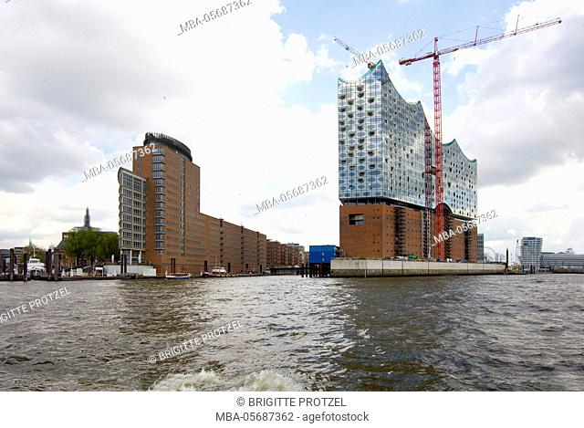Construction site of the Elbphilharmonie in Hamburg