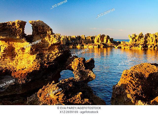 Natural Swimming Pools in Punta Pedrera, Formentera (Balearic islands)
