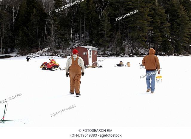 winter ice fishing highland lake stoddard new mr