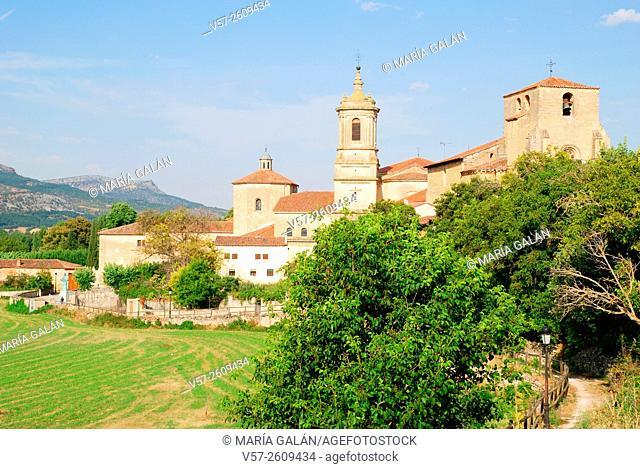 Overview. Santo Domingo de Silos, Burgos province, Castilla Leon, Spain