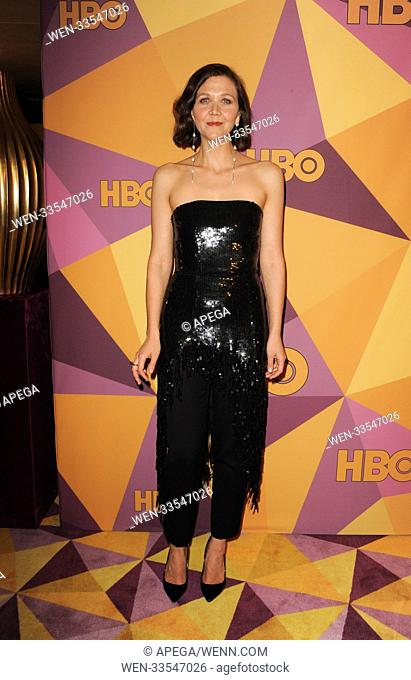 The HBO Golden Globe After Party 2017 Featuring: Maggie Gyllenhaal Where: Los Angeles, California, United States When: 08 Jan 2018 Credit: Apega/WENN