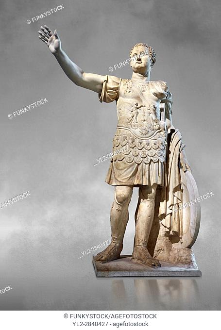 Statue of the Emperor Titus - an end of the 1st century AD Roman statue probably from Rome. Titus was Emperor of the Romans fom 79 to 81 AD