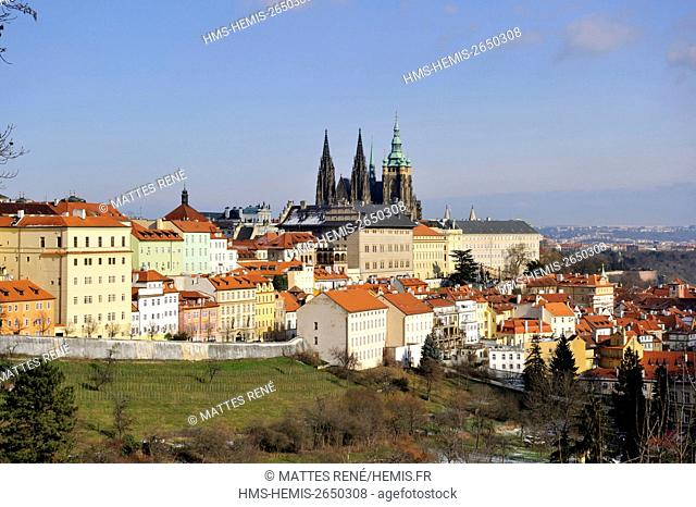 Czech Republic, Central Bohemia, Prague, historical center listed as World Heritage by UNESCO, Hradcany (Castle District), Castle, St Vitus Cathedral