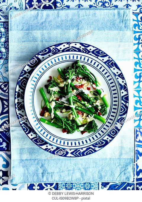 Broccoli and seeds dish