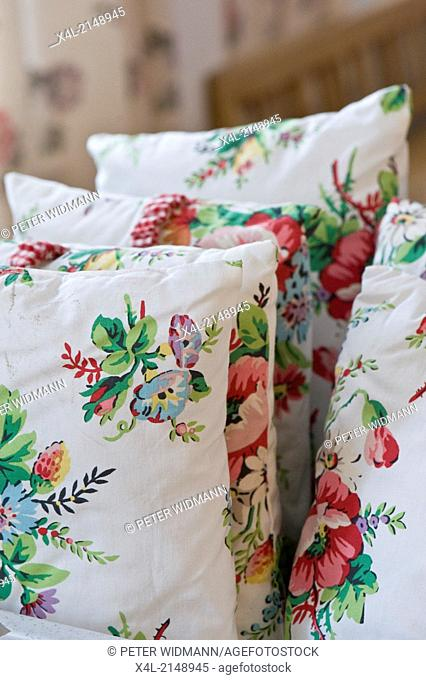 Croatia, Typical pillows with floral pattern