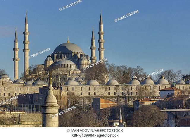 Cityscape, Suleymaniye Mosque, Istanbul, Turkey