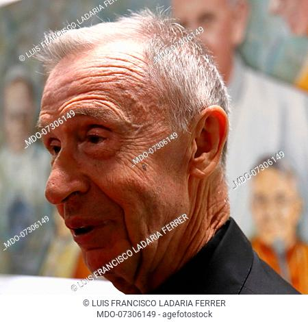 Cardinal Luis Francisco Ladaria Ferrer, Prefect of the Congregation for the Doctrine of the Faith, during the presentation in the Sala Marconi of Palazzo Pio of...