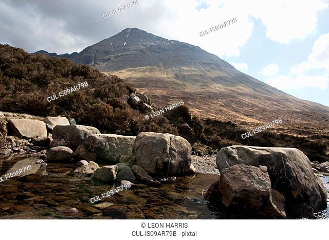 Mountain scene, Fairy Pools, Isle of Skye, Hebrides, Scotland