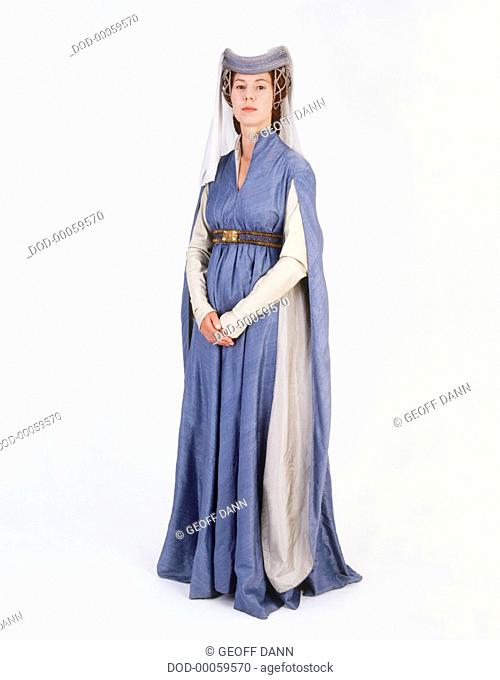 Model dressed as medieval Lady