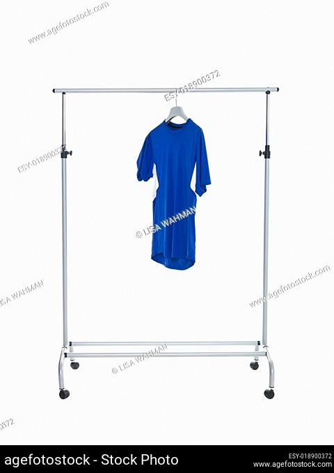 Blue shirt on Dress Rack
