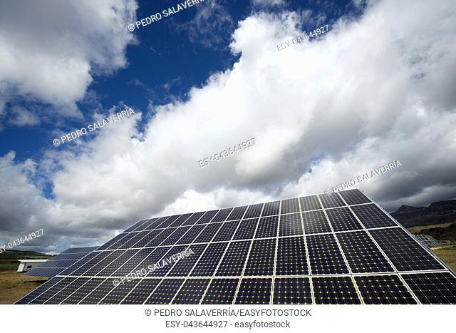 Photovoltaic panels for renewable electric production, Huesca province, Aragon, Spain