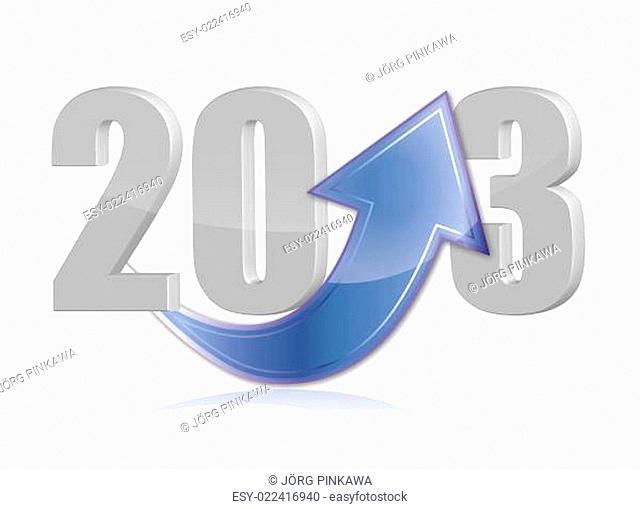 Das neue Jahr 2013 mit einem Pfeil