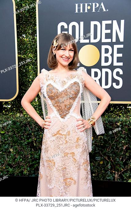 Joanna Newsom attend the 76th Annual Golden Globe Awards at the Beverly Hilton in Beverly Hills, CA on Sunday, January 6, 2019