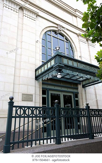 stage door of the Schermerhorn Symphony Center home to the Nashville symphony Tennessee USA