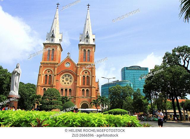 Notre-Dame Cathedral Basilica of Saigon, Vietnam, Asia
