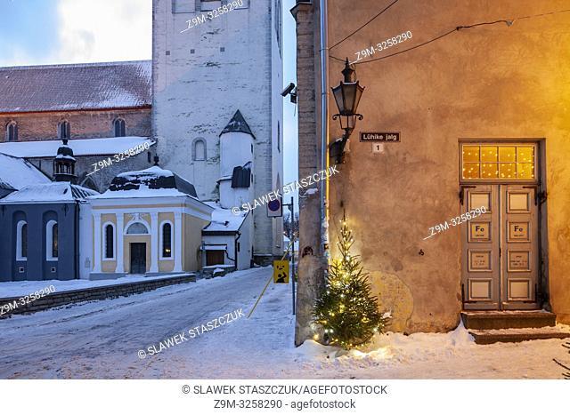 Dawn in Tallinn old town, Estonia