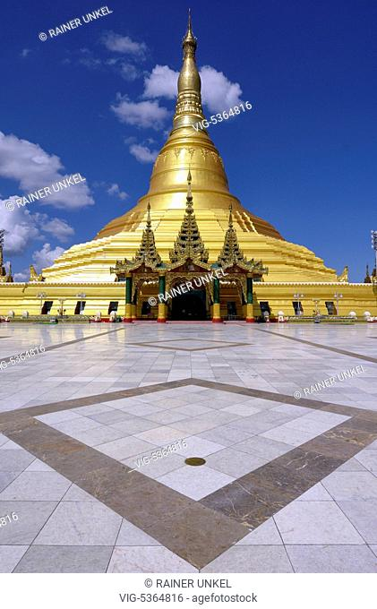 MMR , MYANMAR / BURMA / BIRMA : The Popathiri pagoda in the capital Nay Pyi Taw , 04.11.2015 - Nay Pyi Taw, Nay Pyi Taw, Myanmar, 04/11/2015