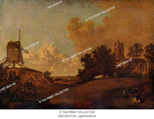 'Old Orford Church and Mill, Suffolk', c1782. Artist: John Crome