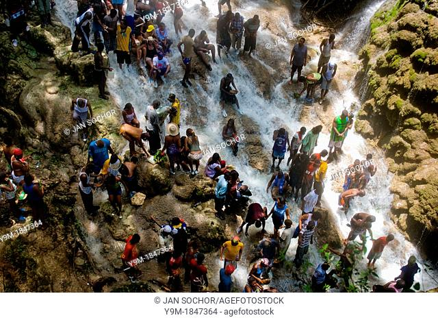 Thousands of pilgrims from all over Haiti make the religious journey to the Saut d'Eau waterfall in Ville Bonheur, Haiti, July 16