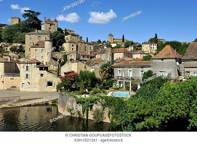 Puy l'Eveque, Lot department, region of Midi-Pyrenees, southwest of France, Europe