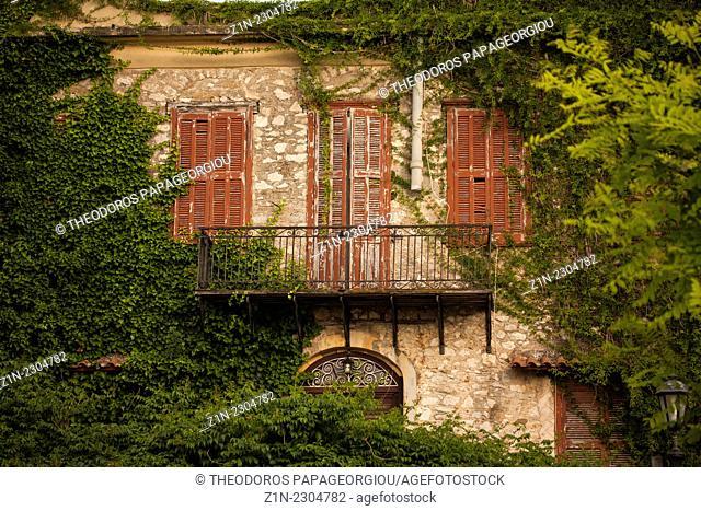 Abandoned house at Nafplion town. Argolis, Peloponnese, Greece