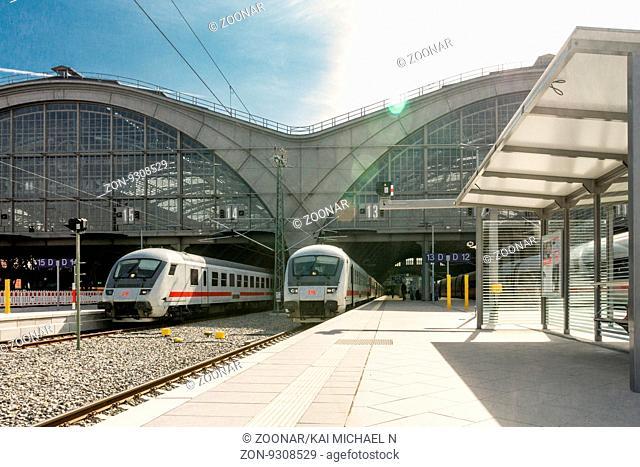 Neue Bahnsteige im Leipziger Hauptbahnhof. - NUR ZUR REDAKTIONELLEN NUTZUNG! -